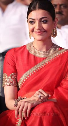 Beautiful Kajal Aggarwal in Sabyasachi saree Saree Blouse Patterns, Saree Blouse Designs, India Fashion, Ethnic Fashion, Latest Fashion, Indian Attire, Indian Wear, Indian Dresses, Indian Outfits