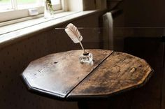 Jane Austen's writing desk at her family home in Hampshire, England.