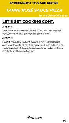 Tahini Rosé Pizza Part 2/2