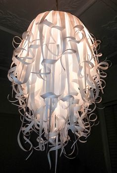 a DIY? What a great party decor! https://www.etsy.com/listing/124574898/frilled-paper-hanging-light-shade
