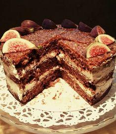 Aromatingas figų tortas su kava ir riesutais Fig, Cakes, Ethnic Recipes, Food Cakes, Cake, Ficus, Pastries, Torte, Animal Print Cakes
