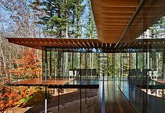 Glass / Wood House by Kengo Kuma, New Canaan, Connecticut