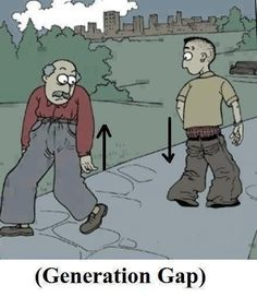 Funny cartoon - Generation Gap - http://jokideo.com/funny-cartoon-generation-gap/