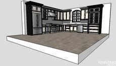 3D Model of Harrington Kitchen Vignette by Kraftmaid Cabinetry - KBIS 2011
