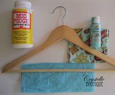 Decoupage Wooden Hangers - DIY - Crystelle Boutique