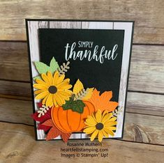 Shop for Stampin' Up! Learn how to create simple & pretty cards. Daily card ideas, paper crafting tips, stamping videos & tutorials. Thanksgiving Cards, Holiday Cards, Christmas Cards, Pumpkin Cards, Daisy, Scrapbook Cards, Scrapbooking, Card Sketches, Greeting Cards Handmade