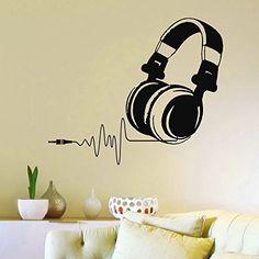 Vinyl Wall Decals DJ Headphones Audio Music Pulse Sign Decal Sticker Home Wall Decor Art Mural Z733 WisdomDecalHouse