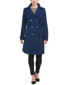 Laundry Laundry By Shelli Segal Crepe Trench Coat