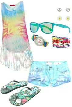 Tween or teen girls fashion summer outfit