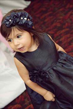 Satin Rosette Toddler Headband