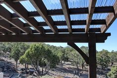 """Cedar City Attached Pergola with Translucent Corrugated Roof - Homeowner Doug says, """"The clear roofing material creates adequate shade due to its shape."""""""