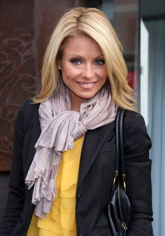TV how host Kelly Ripa seen out in New York City.