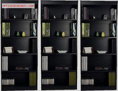 Bestar 5 Shelf Standard Wall Bookcase in Charcoal - http://officedesksbuy.com/bestar-5-shelf-standard-wall-bookcase-in-charcoal.html