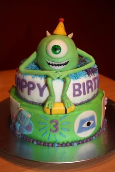 Coolest Monsters Inc Birthday Cake