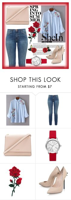 """""""shein"""" by perfex ❤ liked on Polyvore featuring Current/Elliott, Kate Spade, Michael Kors, Casadei and Atelier Swarovski"""