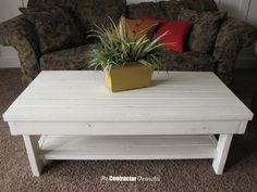 2 x 4 Chunky Farmhouse Coffee Table - The Contractor Chronicles