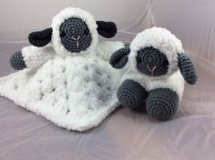 Combo Pack - Sweet Lamb Lovey and Amigurumi Set - PDF crochet pattern - instant download - speical offer pattern pack animal