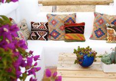 Home Decorators Collection Rugs Product Contemporary Interior Design, Home Interior Design, Ibiza, Porches, Boho Pillows, Throw Pillows, Exterior, Outside Living, Villa Design