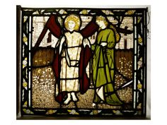 "Amor and Alcestis, Morris and Co. Panel from the ""Legend of Good Women"" by Geoffrey Chaucer,"" 1864."