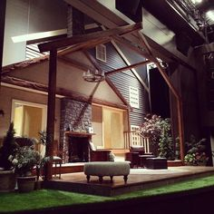 Turns out there's a house where our stage used to be. Set design by @portlandstate Prof Daniel Meeker. // #pcsproud #scenicdesign #GoViks
