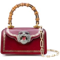 Gucci mini Gatto top handle satchel ($3,500) ❤ liked on Polyvore featuring bags, handbags, red, red handbags, top handle satchel, hand bags, white purse and red hand bags