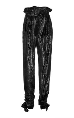 Get inspired and discover Attico trunkshow! Shop the latest Attico collection at Moda Operandi. Paper Bag Waist Pants, Black Velvet Pants, Harem Pants, Trousers, How To Wear, Fashion Design, Shopping, Clothes, Collection