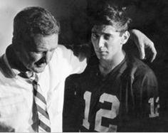 Joe Namath and Bear Bryant, 1965,