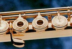 A gold Muramatsu flute. (Available by request only.) Can I request to hold it? Play it?!??!?!