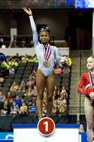 Jordan Chiles - junior gold medalist- Secret U.S. Classic 2014 White Leotard