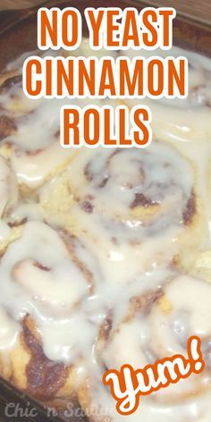 There's no need to wait for the dough to rise with this Quick and Easy No Yeast Cinnamon Rolls recipe! There's no need to wait for the dough to rise with this Quick and Easy No Yeast Cinnamon Rolls recipe! Donut Recipes, Baking Recipes, No Yeast Cinnamon Rolls, Strawberry Cinnamon Rolls, Sweet Roll Recipe, Simple Muffin Recipe, Rolls Recipe, Breakfast Recipes, Favorite Recipes