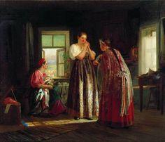 Максимов. Сборы на гулянье.1869 год