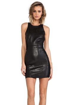 Dolce Vita Begonia Lazer Cut Leather Dress in Black from REVOLVEclothing