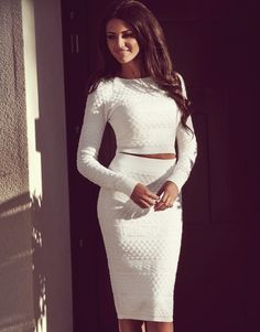 Lipsy - Michelle Keegan Textured Pencil Skirt and top