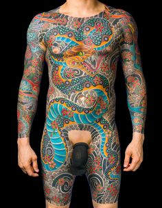 Tattooer: Aaron Coleman Shop: Immaculate Tattoo, Mesa, AZ Japanese Snake Torso Tattoo