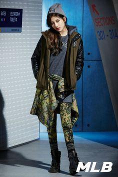 Suzy looks classy in beanies and snapbacks in 'MLB's winter shoot Korea Fashion, Kpop Fashion, Fashion Photo, Girl Fashion, Miss A Suzy, Kim Tae Hee, Bae Suzy, Korean Celebrities, Swag Outfits