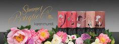 Karen Murrell's new Summer Bouquet lipstick collection ... 'cuz it's summer in New Zealand