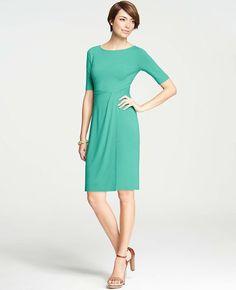 Ann Taylor - Twist Wrap Jersey Dress