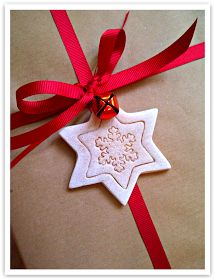 Make salt dough gift toppers