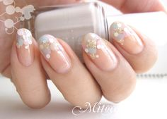 Image via Wedding Beige Nail Art 2015 Image via Nude and White Gradient Image via Wedding Beige Nail Art Image via My Nails Image via Beige nails with striped acce Beige Nail Art, Beige Nails, Glitter Nails, Fun Nails, Pretty Nails, Silver Glitter, Bridal Nails, Wedding Nails, Ongles Beiges