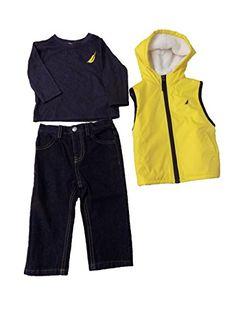 Nautica Yellow Jacket Sherpa Inside Blue T-shirt Denim Pants (12 Months) Nautica http://www.amazon.com/dp/B01AZTXTS0/ref=cm_sw_r_pi_dp_4FlTwb0E6AJH0