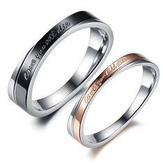 Cincin couple stainless steel - Love you till die