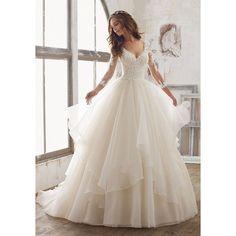 Maya Wedding Dress ❤ liked on Polyvore featuring dresses and wedding dresses