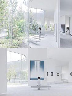 Hiroshi Senju Museum by Ryue Nishizawa Exhibition Display, Exhibition Space, Cafe Interior, Interior Design, Ryue Nishizawa, Design Research, Design Museum, Building Design, Planer