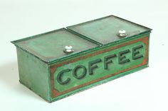 Love the color on this coffee bin