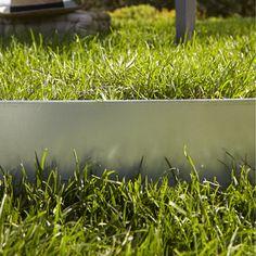 Bordure à planter Metal, acier galvanisé gris, H 13 x L 118cm