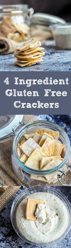 4 ingredient dairy-free gluten free crackers that are easy to make and way healthier than store bought! My mom literally said to me that these are the BEST crackers she has EVER had in her life. | avocadopesto.com