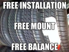 -FREE MOUNTING  -FREE BALANCE  -FREE INSTALLATION. FOR MORE INFORMATION CALL: -M&M TIRES  -7109 HARRY HINES BLVD -DALLAS, TEXAS 75235 -SHOP 214-634-0885   -ABBAS 214-564-5640
