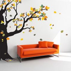 Photo Wall Stickers - Developing a space for the new arrival is consistently one of the means of preparing for a new baby. Wall Painting Decor, Wall Art Decor, Wall Paintings, Wall Decals Target, Photo Wall Stickers, Tv Wall Design, House Design, Beautiful Wall, Tree Wall