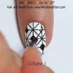 Trendy Nail Art, Easy Nail Art, Mehndi Art Designs, Nail Art Designs, Finger, Nail Art Brushes, Nail Patterns, Make Up, Make It Yourself
