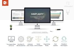 Simplicity PowerPoint Template by SlideSalad on @creativemarket